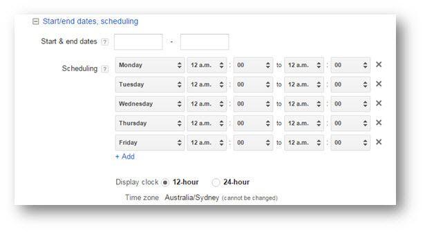 Ad Scheduling