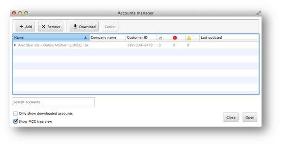 Adwords Editor Accounts