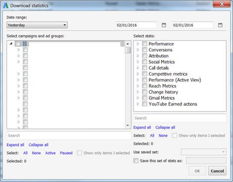 Adwords Editor Download Statistics
