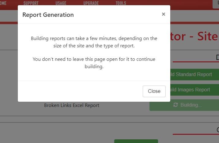 Building a broken link report in Raptor Digital Marketing tools web crawler.