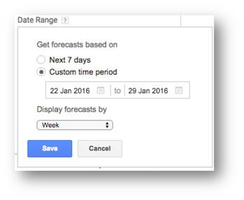 Date Range Forecasts