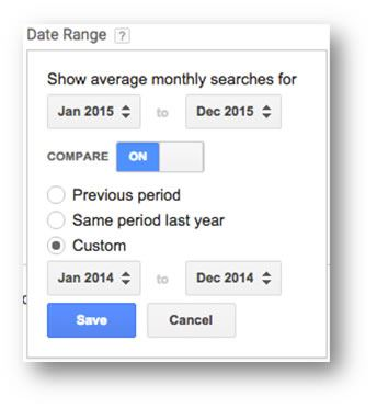Date Range Options