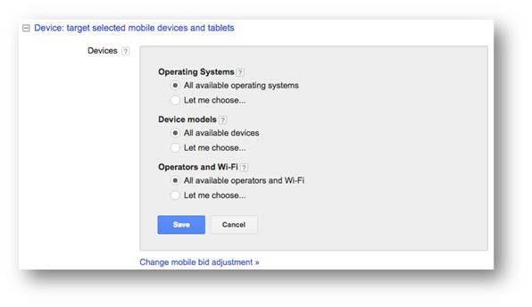 Display Network Device Targeting