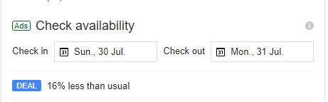 Hotel Ads - Check Availability