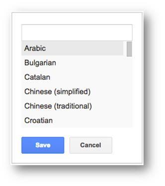 Language Targeting