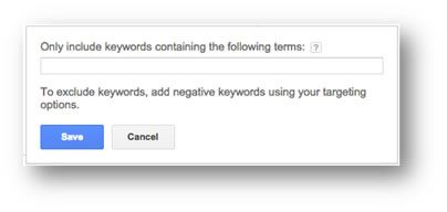 Only Include Keywords Containing