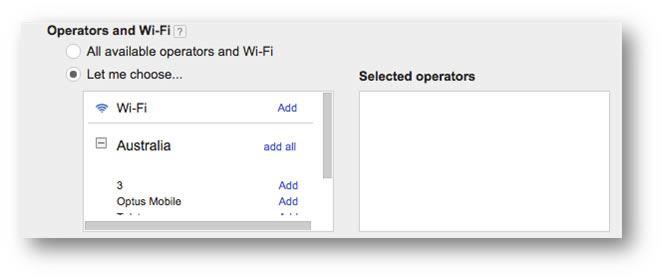 Operators and Wi-Fi