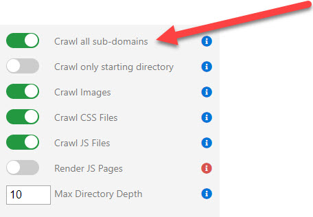 Crawl All Sub Domains