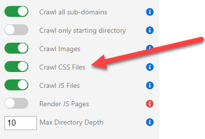 Crawl CSS Files