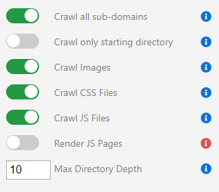 Custom Crawl Options