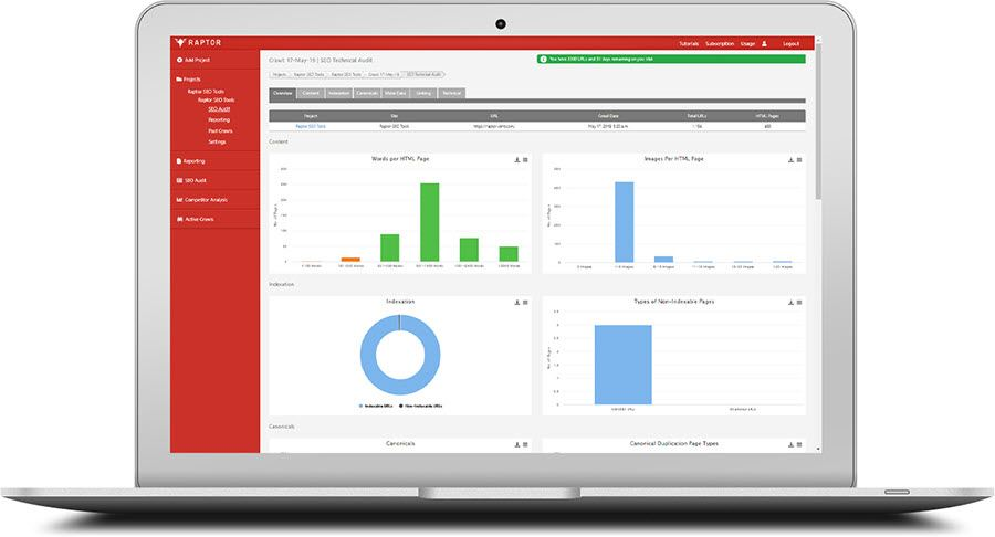 Web Crawler - Seo audit report online