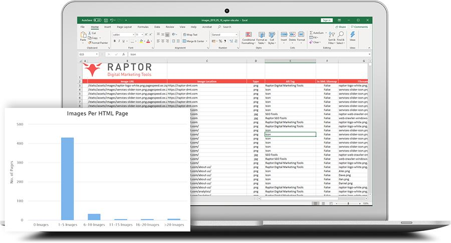 Web Crawler - Excel images report from seo audit data