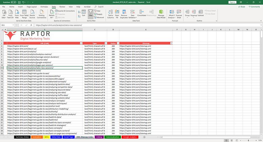 Web Crawler - Identify Sitemap Issues