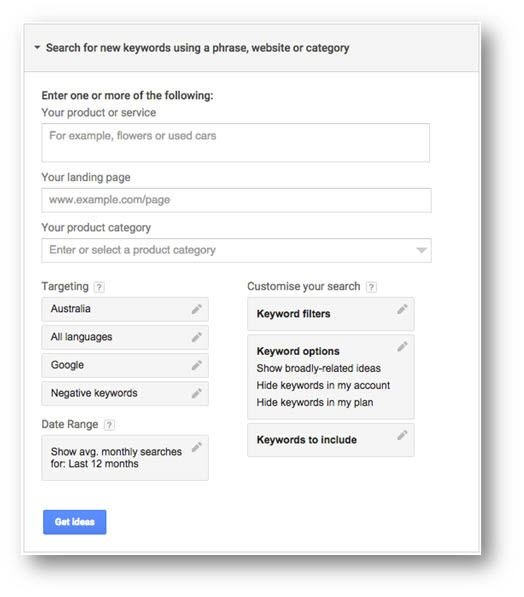 Search for new keywords