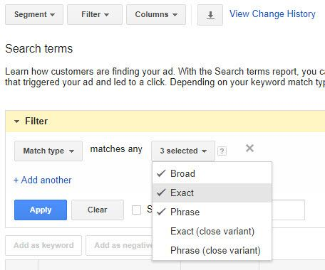 Search Term Filter