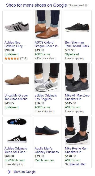 PLA's (Product Listing Ads) aka Shopping Ads