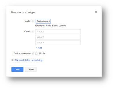 Structured Snippets