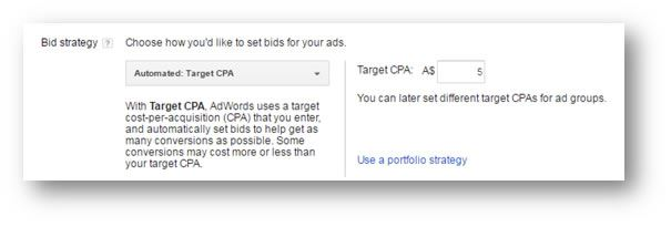 Target CPA (Formally Known as 'Conversion Optimiser')